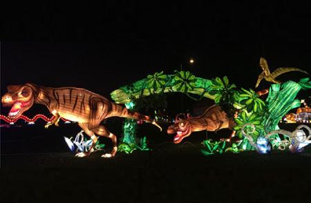 Dinosaur Light Festival Display